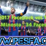 Facepack vol 1.0 By Minosta برای PES 2017