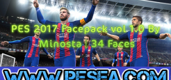 Facepack vol 1.0 By Minosta برای PES 2017