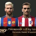 فیس پک جدید ورژن 2 برای PES2010