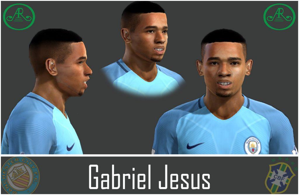 فیس بازیکن Gabriel Jesus برای Pes 2013