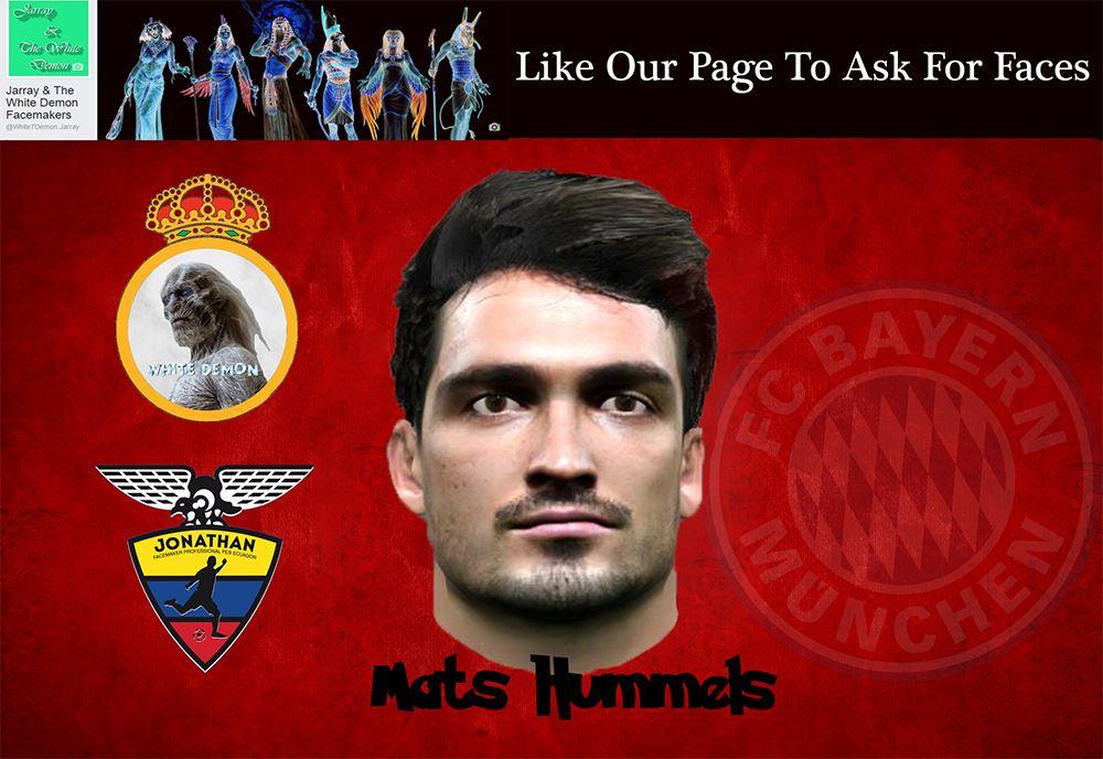 فیس بازیکن Mats Hummels برای Pes 2016