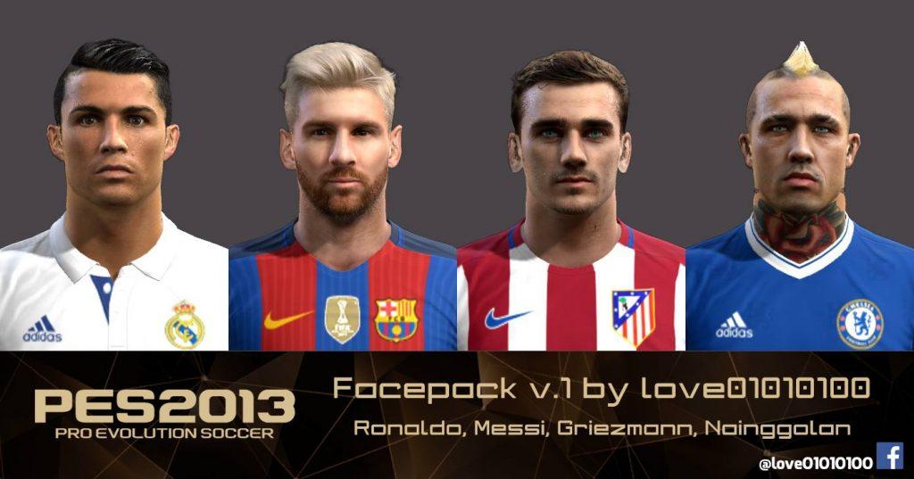 فیس پک جدید ورژن1 برای Pes 2013