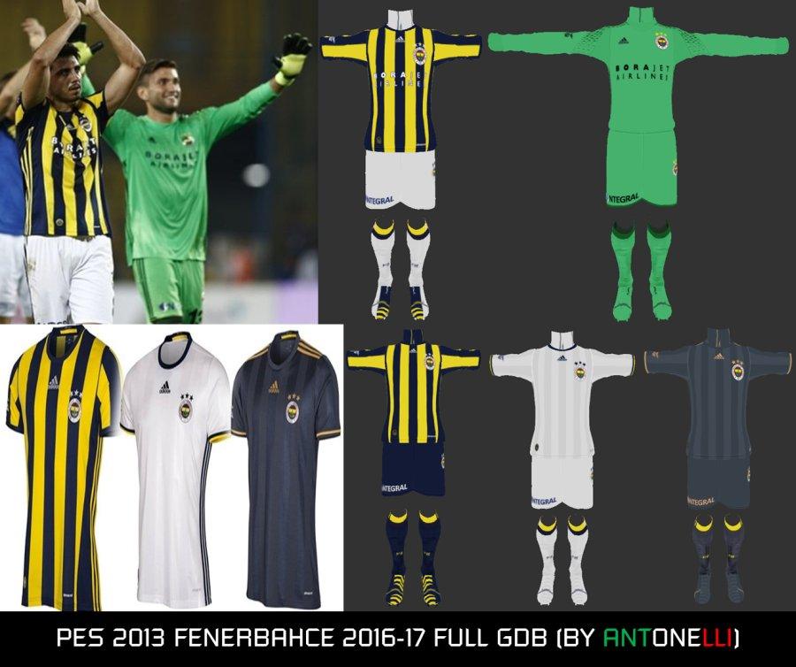 کیت پک کامل تیم .Fenerbahçe S.K فصل 2016/17 برای Pes 2013