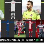 فول کیت پک Olympiakos 2016/17 برای PES 2013