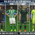 کیت پک تیم Real Betis فصل 2016/17 برای Pes 2016