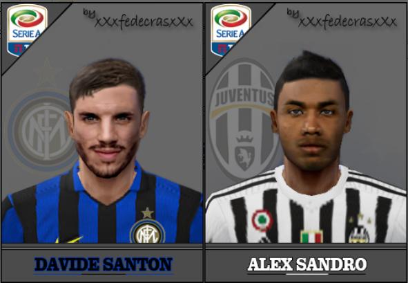 فیس Davide Santon و Alex Sandro برای PES6