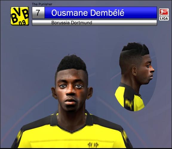 فیس بازیکن Ousmane Dembélé برای Pes 2006