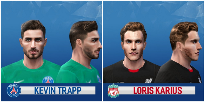 فیس Kevin Trapp and Loris Karius برای PES 6