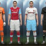 کیت پک تیم West Ham United فصل 2016/17 برای Pes 2016