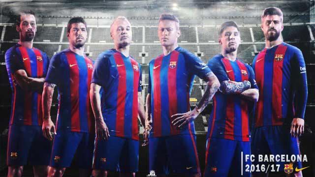 فیس بازیکنان بارسلونا در PES 2017 برای PES 2016