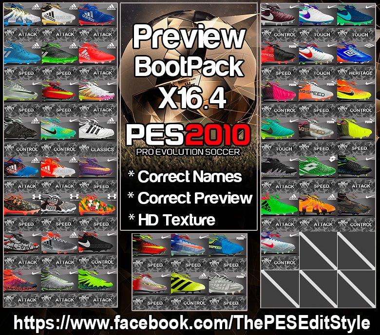 بوت پک X16.4 برای PES 2010