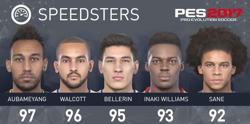 سریعترین بازیکنان بازی Pes 2017