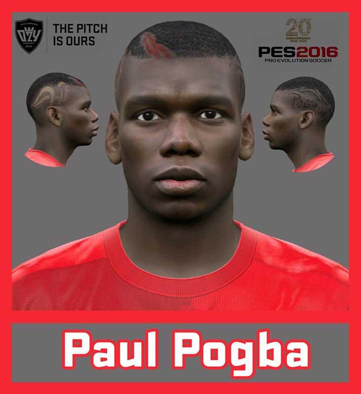 فیس جدید پوگبا برای pes 2016