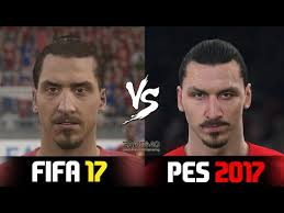 ویدیوی مقایسه چهره های تیم منچستر در pes 2017 و fifa 2017