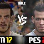 ویدیوی مقایسه چهره بازیکنان رئال مادرید در pes 2017 و fifa 2017