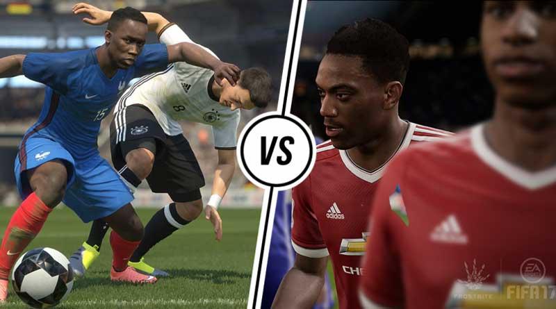 مقایسه حرکات تکنیکی pes 2017 و fifa 2017