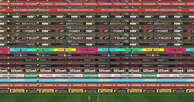 تابلو تبلیغاتی آرسنال برای pes 2017