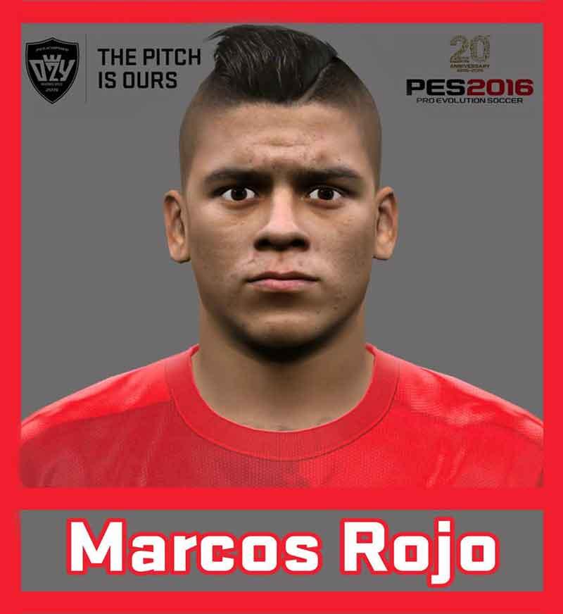 فیس Marcos Rojo برای pes 2016 و pes 2017