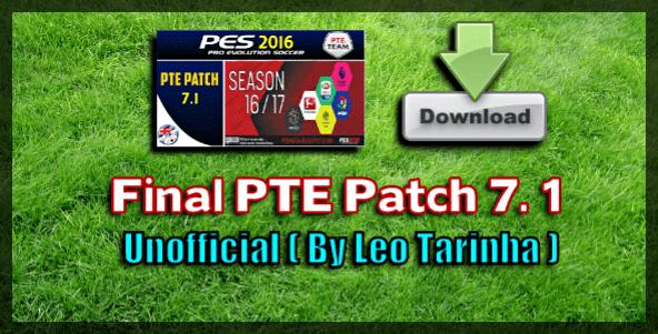 پچ PTE 7.1 برای PES 2016