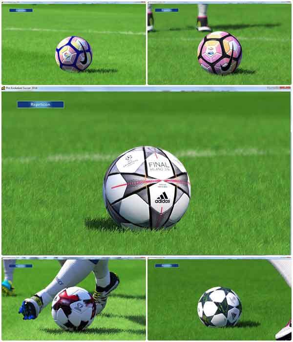 پک توپ های جدید برای pes 2017
