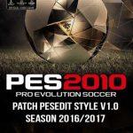 پچ PESEdit Style Season 2016/2017 برای PES2010
