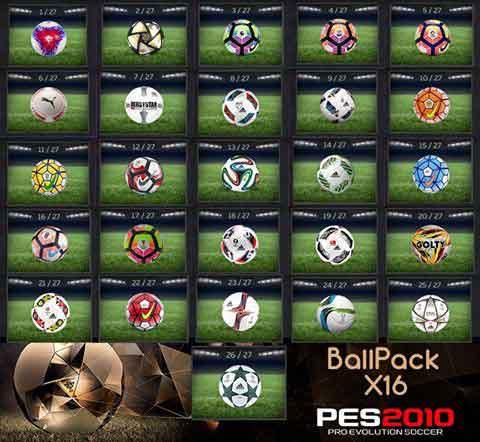 Ballpack x16 برای PES2010