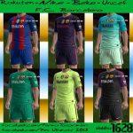 کیت پک بارسلونا فصل 16-2017 برای pes 2013