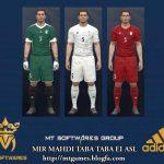 کیت پک تیم ملی ایران برای pes 2017