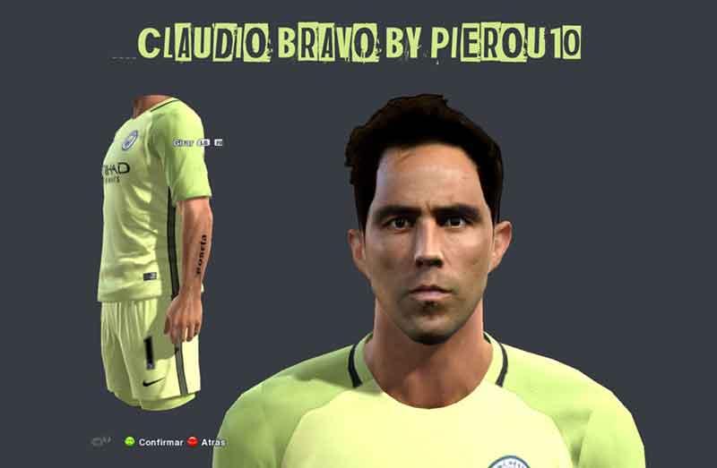 فیس Claudio  Bravo برای pes 2013