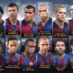 فیس پک کلاسیک بازیکنان بارسلونا در Club Legends برای pes 2017