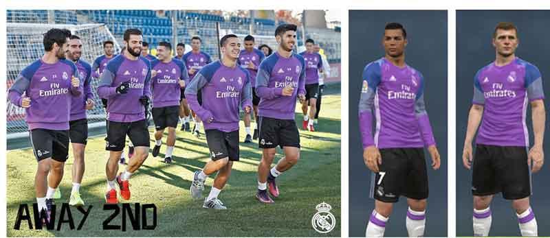 کیت پک کامل Real Madrid برای pes 2017