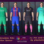 کیت پک جدید بارسلونا برای pes 2017