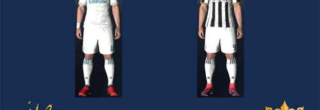 کیت پک جدید Juventus – Real Madrid برای pes 2017