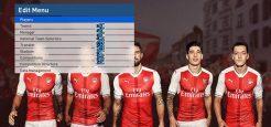 منو گرافیکی جدید Arsenal برای PES 2017