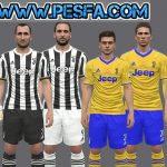 کیت پک کامل 2017/2018 Juventus برای PES 2017