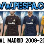 کیت پک فصل 2009/2010 رئال مادرید برای PES 2017