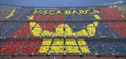 طرح موزاییکی Visca Barca برای PES 2017