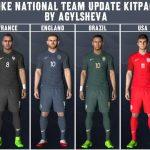 کیت پک تیم های ملی برای pes 2017