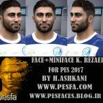 فیس کاوه رضایی توسط H.Ashkani برای PES 2017