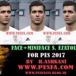 فیس سعید عزت اللهی توسط H.Ashkani برای PES 2017