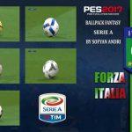 پک توپ Serie A برای pes 2017