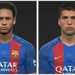 مینی فیس پک Neymar Jr & L. Suarez برای PES 2017