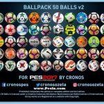 پک توپ 50 تایی ورژن 2 توسط Cronos برای PES 2017