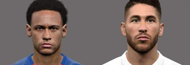مینی فیس پک دونفره Neymar و Ramos برای PES 2017
