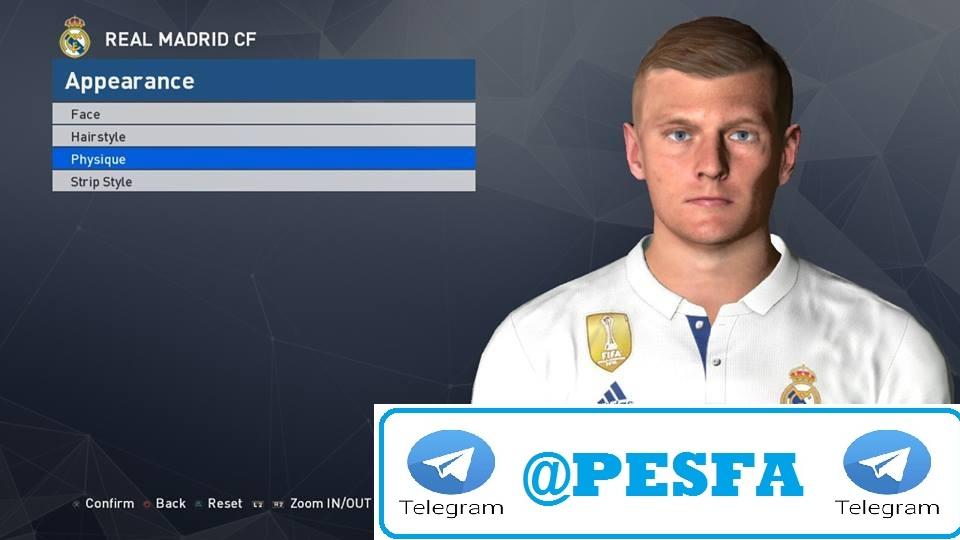 فیس جدید Kroos توسط Ahmed El Shenawy برای PES 2017