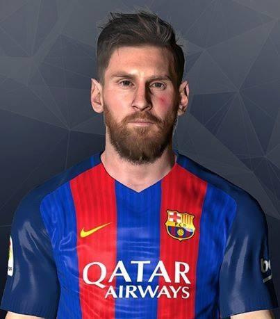 فیس جدید Messi توسط LR7 برای PES 2017