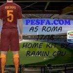 کیت پک جدید A.S. Roma 2017/18 برای PES 2017