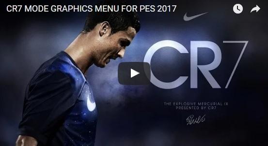 منو گرافیکی CR7 برای PES 2017
