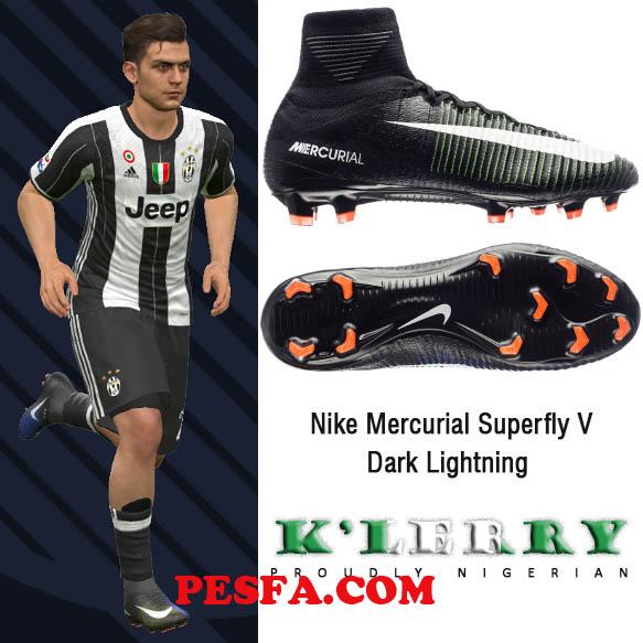 کفش جدید Mercurial Superfly V Dark Lightning برای PES 2017