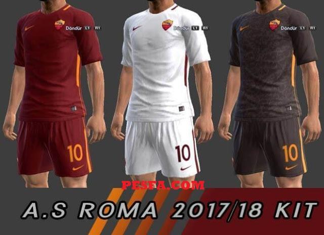 کیت پک A.S. Roma 2017-18 برای PES 2013